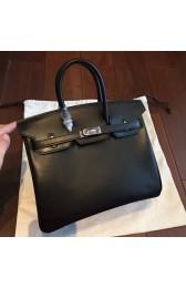 Imitation AAAAA Hermes Black Box Birkin 25cm Handmade Bag HJ00720