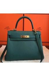 Imitation Best Hermes Malachite Clemence Kelly Retourne 28cm Handmade Bag Replica HJ00240