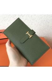 Imitation Copy Hermes Canopee Clemence Bearn Gusset Wallet HJ00753
