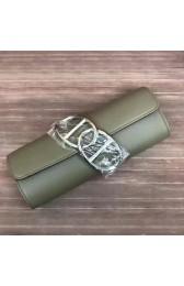 Imitation Fake Hermes Handmade Egee Clutch In Khaki Swift Leather HJ00030