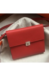 Imitation Fake Hermes Red Clic 16 Wallet With Strap HJ00802