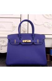 Imitation Hermes Birkin 30cm 35cm Bag In Electric Blue Epsom Leather HJ00828