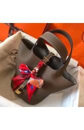 Imitation Hermes Taupe Picotin Lock MM 22cm Handmade Bag HJ00488