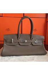 Imitation Luxury Hermes Grey JPG Shoulder Birkin 42cm Bag HJ01236