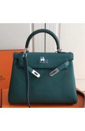 Knockoff Cheap Hermes Malachite Clemence Kelly 25cm PHW Bag HJ01320