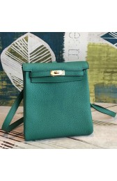 Knockoff Hermes Malachite Clemence Kelly Ado PM Backpack Replica HJ00492