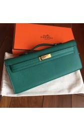 Knockoff Hermes Malachite Epsom Kelly Cut Clutch Handmade Bag HJ00938