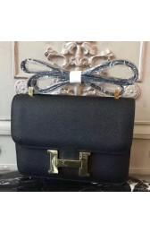 Knockoff High Quality Hermes Black Constance MM 24cm Epsom Leather Bag HJ00887
