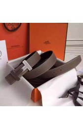 Knockoff Replica Hermes Grey Clemence Kits Belt 32mm Quizz H Buckle HJ00993