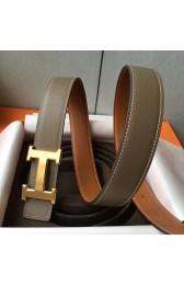 Knockoff Replica Hermes H Belt Buckle & Taupe Epsom 32 MM Strap HJ00953