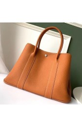 Luxury Hermes Tan Fjord Garden Party 30cm With Printed Lining HJ01356