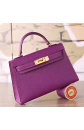 New 1:1 Replica Hermes Cyclamen Epsom Kelly Mini II 20cm Handmade Bag HJ01257