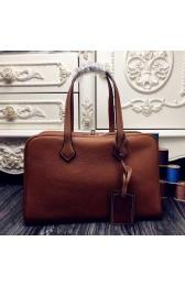Replica 1:1 Hermes Victoria II 35cm Bag In Brown Leather Replica HJ01290