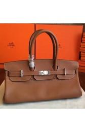 Replica Best Knockoff Hermes Brown JPG Shoulder Birkin 42cm Bag HJ01200