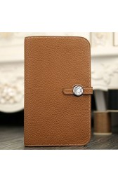 Replica Cheap Hermes Dogon Combine Wallet In Brown Leather HJ01286