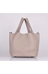 Replica Copy Hermes Picotin Lock Bag In Grey Leather HJ00833