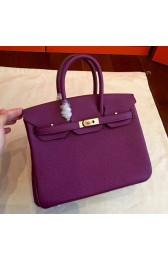 Replica Designer Hermes Cyclamen Clemence Birkin 25cm Handmade Bag HJ01012