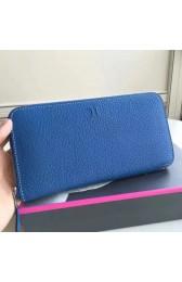 Replica Fake Hermes Blue Clemence Azap Zipped Wallet HJ00291