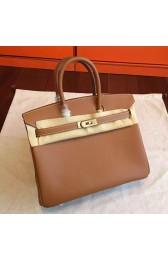 Replica Fashion Hermes Brown Epsom Birkin 25cm Handmade Bag HJ00152