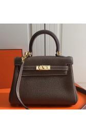 Replica Hermes Etoupe Clemence Kelly 20cm GHW Bag HJ00832