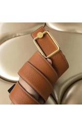 Replica Hermes Oscar Buckle 40 MM Belt Brown Reversible Leather HJ00855