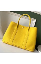 Replica Hermes Yellow Fjord Garden Party 30cm With Printed Lining HJ01244