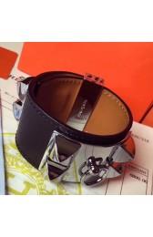 Replica High End Hermes Black Epsom Collier De Chien Bracelet Size S HJ00760