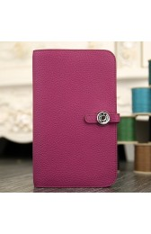 Replica Hot High End Hermes Dogon Combine Wallet In Purple Leather HJ00506