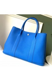 Replica Luxury Hermes Blue Hydra Fjord Garden Party 30cm With Printed Lining HJ00114