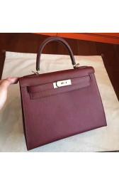 Replica Replica Designer Hermes Bordeaux Epsom Kelly Sellier 28cm Handmade Bag HJ01029
