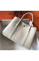 Replica Replica Perfect Hermes White Clemence Garden Party 30cm Handmade Bag HJ01164