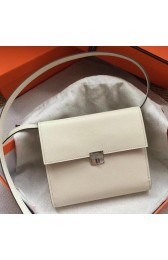 Replica Top Quality Hermes White Clic 16 Wallet With Strap HJ01217