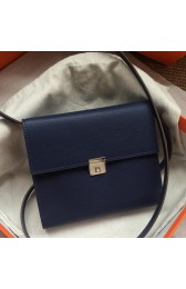 Top Hermes Sapphire Clic 16 Wallet With Strap HJ01230